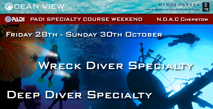 Specialties weekend Deep and Wreck Diver