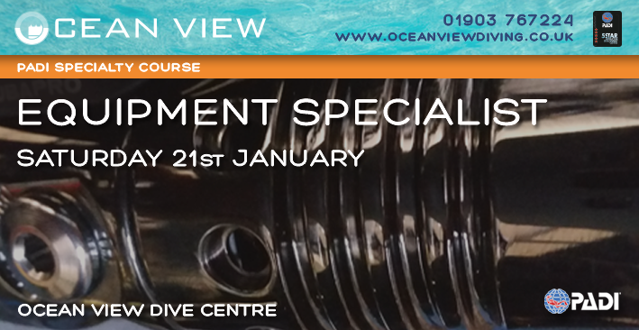 PADI Equipment Specialist Course 21st Janaury 2017