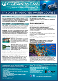 Open Water Course Brochure
