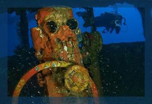 Truk Inside Wreck Nippo Maru