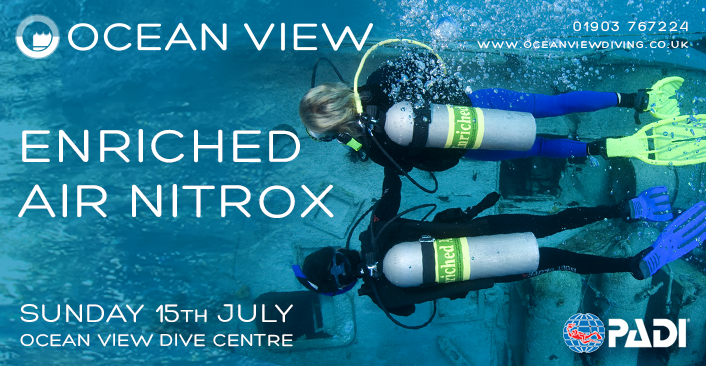 PADI Enriched Air Nitrox course July 2018