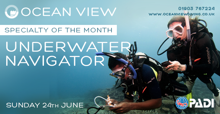 PADI Underwater Navigator Speciialty of the Month June 2018