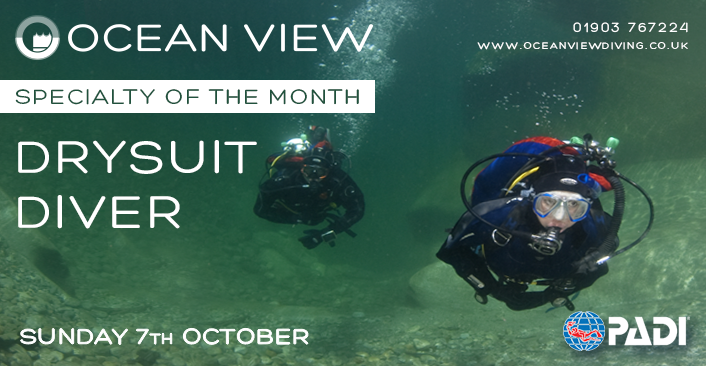 PADI Drysuit Diver Specialty of the month October 2018