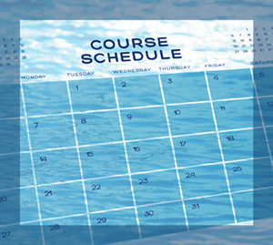 course schedule front page