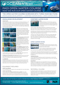 Open Water course – how we run the course