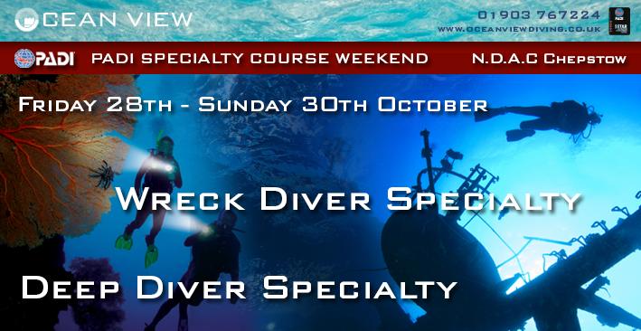 Specialties weekend Deep and Wreck Diver
