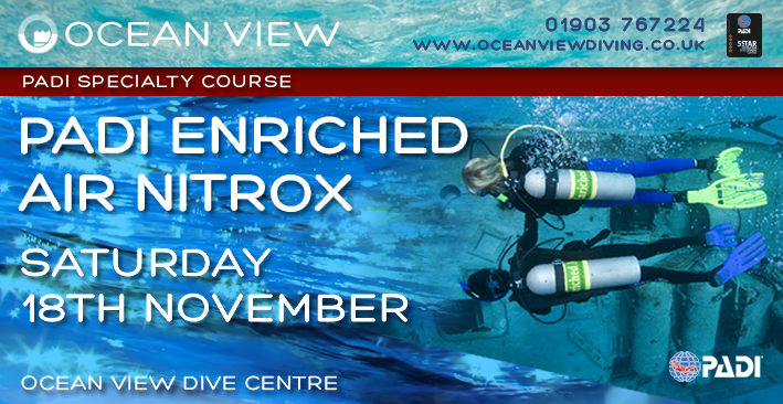 Enriched Air Nitrox Diver Specialty 18th November 2017