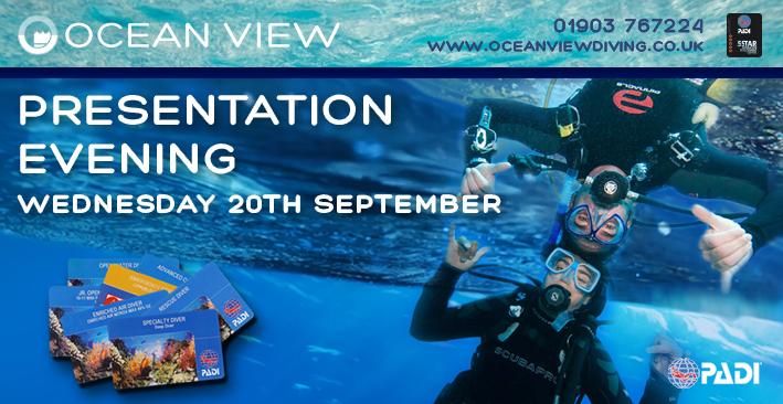 Presentation evening Wednesday 20th September