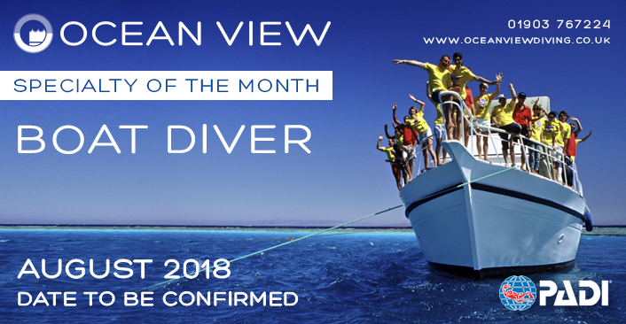 PADI Boat Diver Specialty of the month 2018