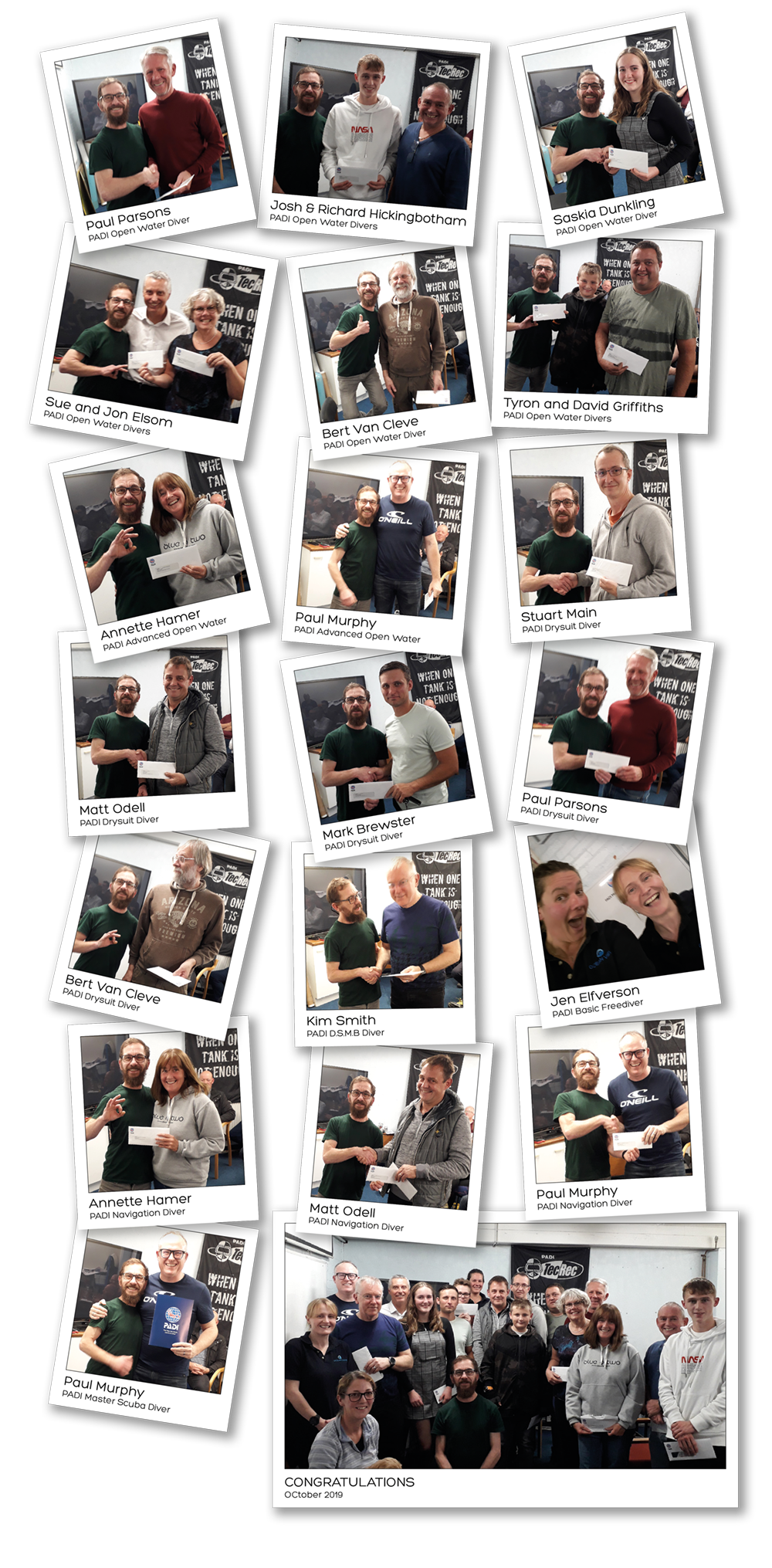 Presentation Evening October 2019 Mugshots