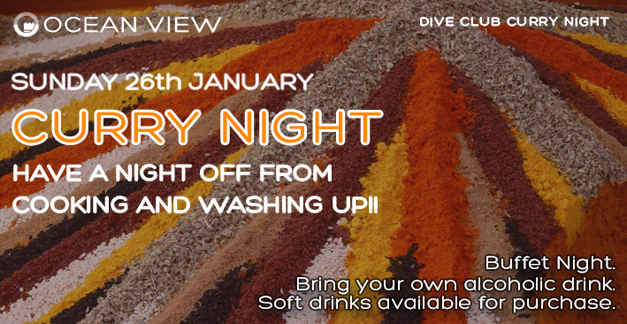 Dive Club Curry Night