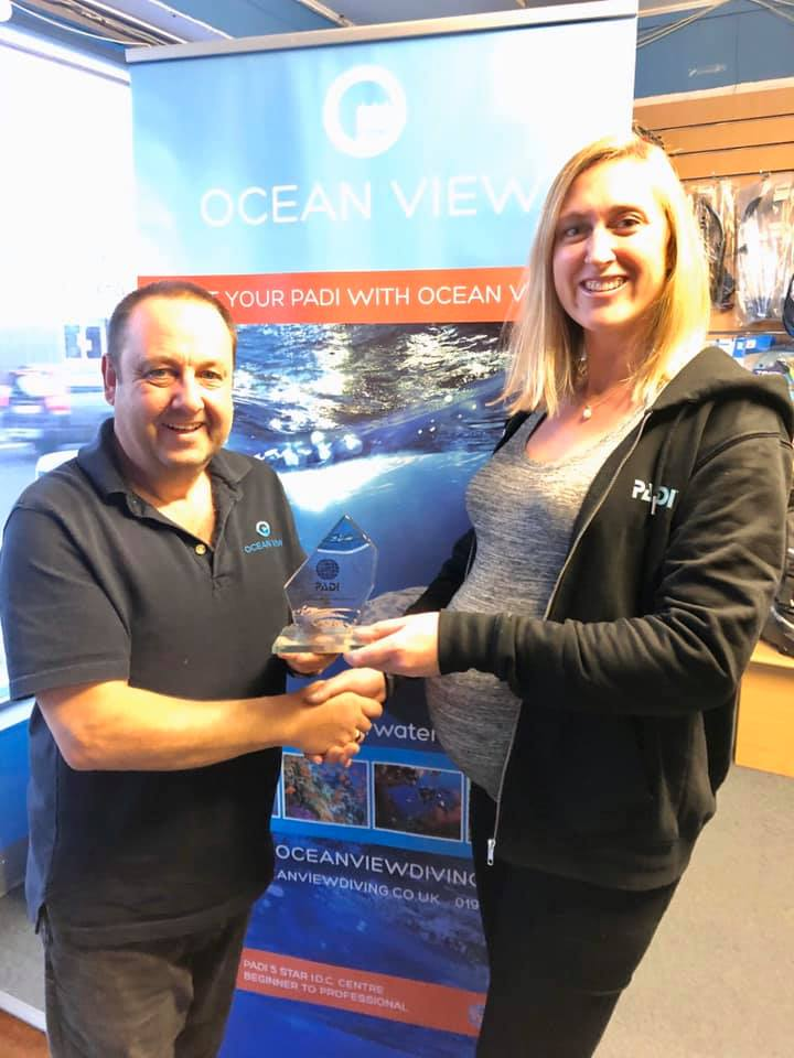 Emma and Graeme Exceptional growth in Dive Certifications